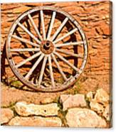 Frontier Wagon Wheel Canvas Print