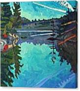 Frood Lake Outlet Canvas Print