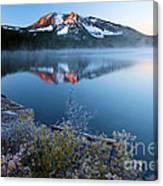 Frost At Paulina Lake Canvas Print