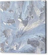 Frost Crystal On Window Canvas Print
