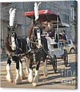 Frost Fair Horses Hastings Canvas Print