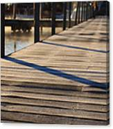 Frost On The Docks Canvas Print