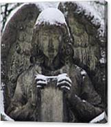 Frosted Stone Angel Canvas Print