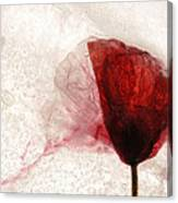 Frosted Poppy Canvas Print