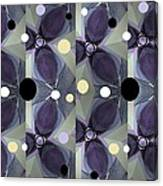 Frosted Purple Flower Canvas Print