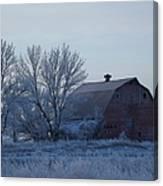 Frosty Barn Canvas Print
