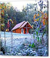 Frosty Cabin Canvas Print