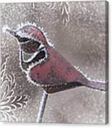 Frosty Cardinal Canvas Print