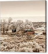 Frosty Farm Canvas Print