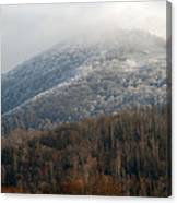 Frosty Mountain Canvas Print