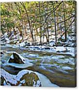 Frosty River Canvas Print