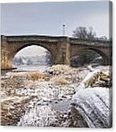 Frosty Tyne Canvas Print