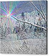 Frosty Window Distant Sun Canvas Print