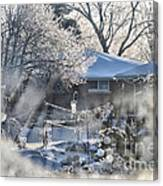 Frosty Winter Window Canvas Print