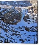 Frozen Black Lake Canvas Print