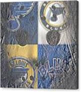 Frozen Blues Canvas Print