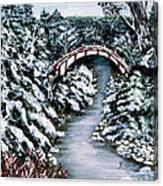 Frozen Brook - Winter - Bridge Canvas Print