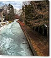 Frozen Canal Canvas Print