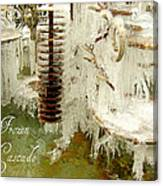 Frozen Cascade Canvas Print