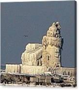 Frozen Cleveland Lighthouse 2010 Canvas Print