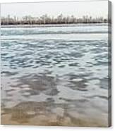 Frozen Dnieper River Canvas Print