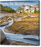 Frozen Enchantments Creek Canvas Print
