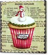 Frozen Frosty Cupcake Canvas Print