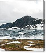 Frozen Lake - Dalsnibba Mountains Canvas Print