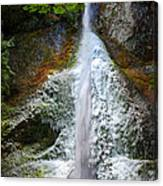 Frozen Marymere Falls Canvas Print