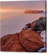 Frozen Mesa Canvas Print