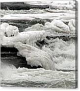 Frozen Niagara River Rapids Above Niagara Falls Canvas Print