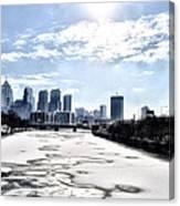Frozen Philadelphia Cityscape Canvas Print