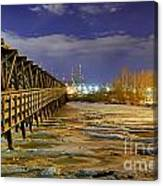 Frozen Pier Canvas Print