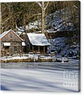 Frozen Pond  Canvas Print