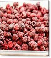 Frozen Raspberries Canvas Print