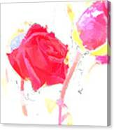 Frozen Rose Canvas Print