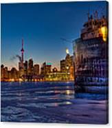 Frozen Skyline Canvas Print