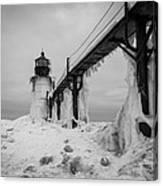 Frozen St. Joseph Lighthouse Canvas Print