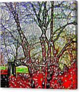 Frozen Sunday Time Canvas Print