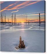 Frozen Sunrise Canvas Print