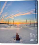 Frozen Sunrise V2 Canvas Print