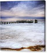 Frozen Tundra Of Long Island Canvas Print