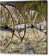 Frozen Wheels Canvas Print