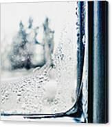 Frozen Windowpane Canvas Print
