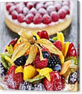 Fruit And Berry Tarts Canvas Print