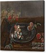 Fruit And Flowers On A Table Canvas Print
