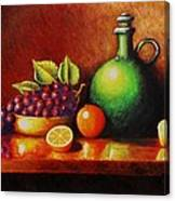 Fruit And Jug Canvas Print