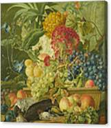 Fruit Flowers And Dead Birds Canvas Print