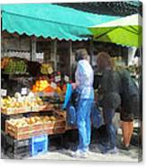 Fruit For Sale Hoboken Nj Canvas Print