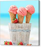 Fruit Ice Cream Canvas Print